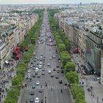 top view from Arc de Triumph