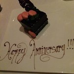 On our anniversary at The Restaurant