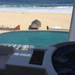 Hot tub on the balcony