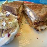 Grouper Reuben sandwich