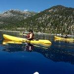 Kayaking on beautiful Lake Tahoe