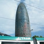 Torre Agbar with Tram
