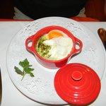 Vorspeise - Gemüse mit Ei im Cocotte - grossartig