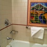Beautiful mosaic tiles in bathroom