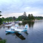 We're right on the water for sea planes!