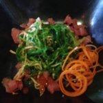 Neptune's seaweed sashimi salad