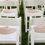 Lawn near the pool; chairs offered by hotel for weddings