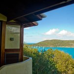 The view from the balcony looking towards Little Jost Van Dyke, Diamond View Villa