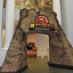 Entrance to dinosaur exhibition
