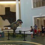 Life size animated dinosaur replica