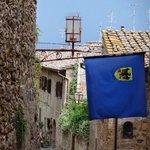medieval street in San Gimignano