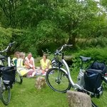 Summer evening picnic on Dartmoor with Electric Bicycles
