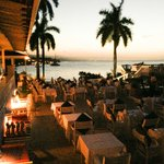 The dining view at sunset