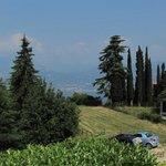 Blick vom Hotel Richtung Gardasee