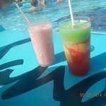 Drinks at the pool everyday