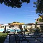 La piscina riservata ai clienti dell'hotel..