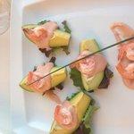 Avocado & prawn starter