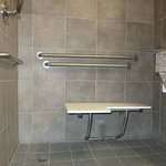 Fold down shower chair - no back