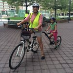 Our bike with child attachment