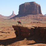 Not far from Goulding's, but you have to drive into Monument Valley to see this scene