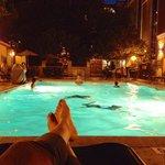 Late night swim!