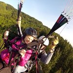 a beautiful day to paraglide