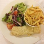 Room Service - Egg, salad and chips