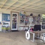Well equipped dive shop with great set up area and lockers!