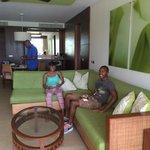 Living room in Master Suite Oceanfront