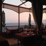 View from inside the restaurant, lovely