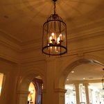 Chandelier in parlor