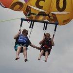 parasailing at Top Gun Parasail in OC NJ