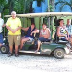 Our group in golf cart