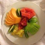 Room service fruit platter