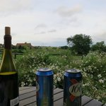 View with wine and beer