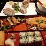 Katsu bento box and some rolls