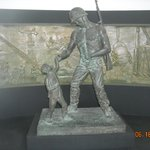 Statue of a soldier & a chid