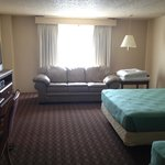 This was considered a suite, with mini-fridge and microwave