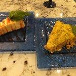 Cheesecake with pomegranate & Baklava
