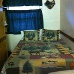 """queen bed in moose room """"K"""""""