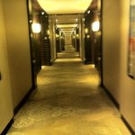 the walkway to room