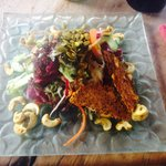 Rabbit Paradise with orange miso dressing. Great meal. Grubby filthy cafe : (