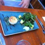 Goat cheese with wild herbs salad