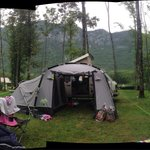 From our wooded retreat up on the shaded side of camp