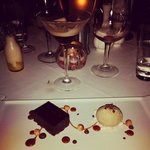 Delice of chocolate and coffee ice cream with caramel hazel nuts - could have eaten it all night