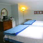 Double Queen in Main Bldg. w/ furnished patio overlooking the river