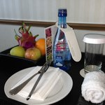 Comp water and fruit.....