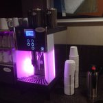 Convenient coffee machine at the club meeting room.