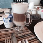 Lovely latte. Made to order