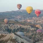 From a balloon, Cappadocia. Trip organised by the Orient Hostel